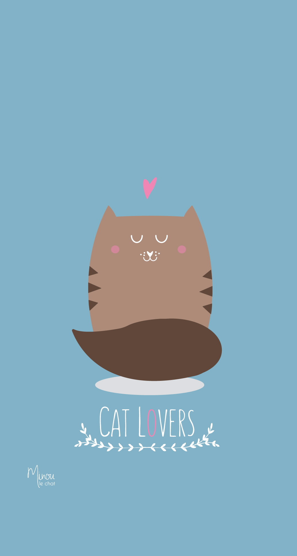 Fond d 39 cran cat lovers minou le chat for Fond ecran iphone original